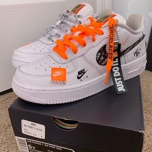 Nike Air Force JDI , off white laces.